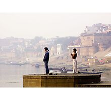 India: A Day in the Life of Varanasi #3 - Looking East  along the banks of the River Ganges Photographic Print
