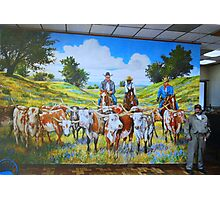 Mural in Fort Worth Photographic Print