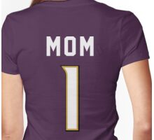#1 Mom - Baltimore Football Womens Fitted T-Shirt
