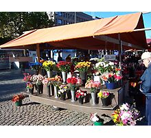 Wednesday market in Lahti, Finland Photographic Print