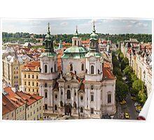 Prague city scape Poster