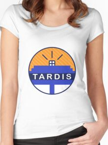 Iconic TARDIS Women's Fitted Scoop T-Shirt