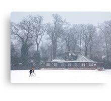 No Cricket Today - winter in Weybridge Canvas Print