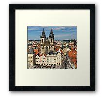 Prague Old Town Square - Prague, CZ Framed Print