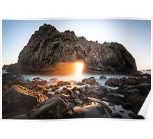 The Keyhole at Pfeiffer Beach Poster