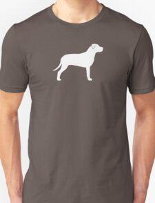 American Pit Bull Terrier Silhouette (White) T-Shirt