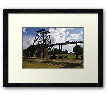 Old Mining Equipment  Framed Print