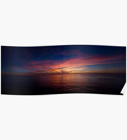 Epic Sunset Over the Mediterranean  Poster