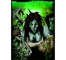OMG Zombies Photographic Print