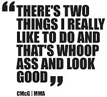 Conor McGregor - Quotes [Whoop Ass] Photographic Print