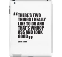 Conor McGregor - Quotes [Whoop Ass] iPad Case/Skin