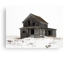 abandoned house on the prairies Canvas Print