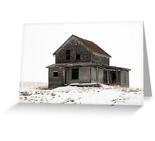 abandoned house on the prairies Greeting Card