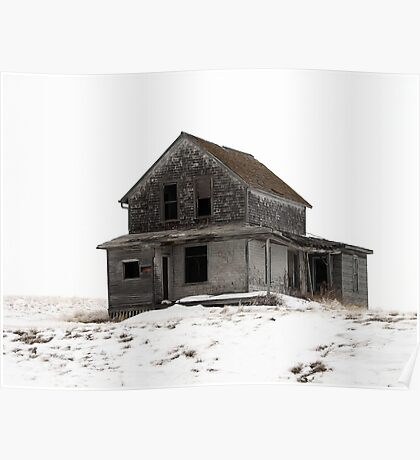 abandoned house on the prairies Poster