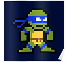 8-Bit TMNT Leo (No Text) Poster