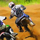 Motocross Dirt-Bike Championship Racers by NaturePrints