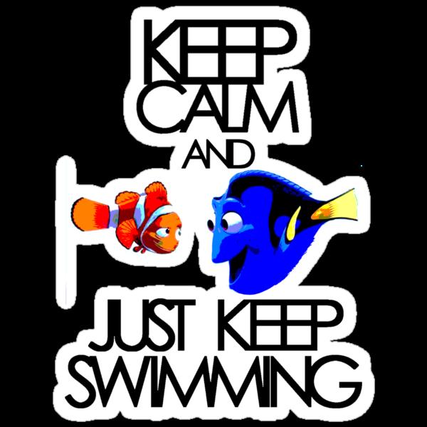 Keep Calm and Just Keep Swimming by KRASH (Ashlee Fensand)