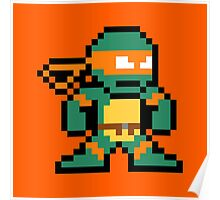8-Bit TMNT Mikey (No Text) Poster
