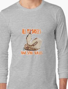 Scaly Snake Babies Long Sleeve T-Shirt