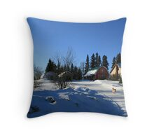 winter in saskatchewan Throw Pillow
