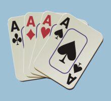 Deck of Lucky Ace Cards - Poker T-shirt Sticker Baby Tee