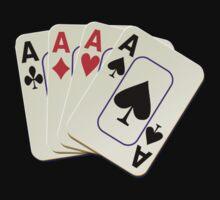Deck of Lucky Ace Cards - Poker T-shirt Sticker Kids Tee