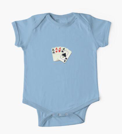 Deck of Lucky Ace Cards - Poker T-shirt Sticker One Piece - Short Sleeve