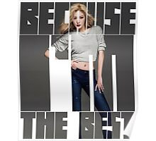 HYUNA 'Because I'm The Best' Typography 2 Poster