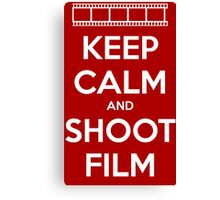 Keep Calm and Shoot Film Canvas Print