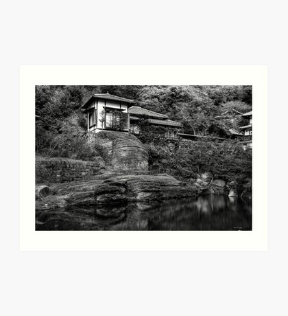 Peaceful abode near the pond Art Print