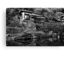 Peaceful abode near the pond Canvas Print
