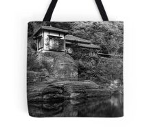 Peaceful abode near the pond Tote Bag