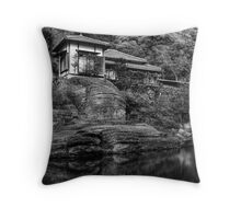 Peaceful abode near the pond Throw Pillow