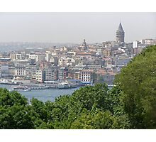 Galata Tower in Istanbul Photographic Print