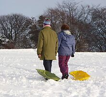 Who said sledging was for kids? by laurawhitaker