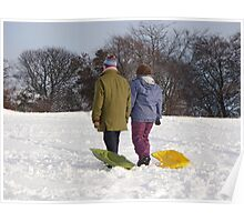 Who said sledging was for kids? Poster