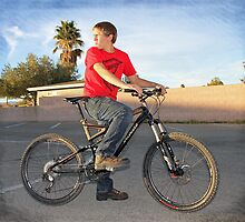 Eric on His New Bike by Corri Gryting Gutzman