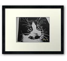black and white Noah Framed Print