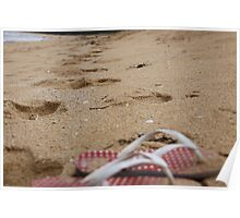 Thongs in the sand Poster