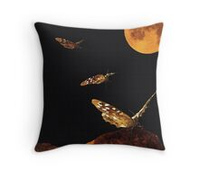 The Moth  Throw Pillow