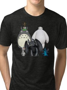 Animated Cute Tri-blend T-Shirt