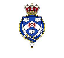 Coat of arms (family crest) for last-name or surname Flint (England) . Heraldry banner for your name. Photographic Print