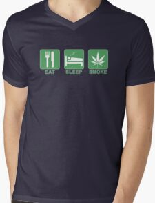 Eat, Sleep, Smoke Mens V-Neck T-Shirt