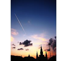 St. Louis Cathedral at Sunset Photographic Print