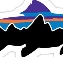 Patagonia fish logo Sticker