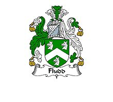 Coat of arms (family crest) for last-name or surname Floyd or Fludd . Heraldry banner for your name. Photographic Print