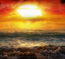 Beauty in Destruction. Nuclear Sunset. Sticker