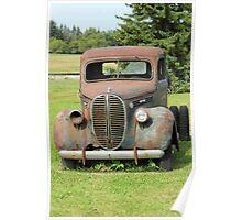 Parked Vintage Truck Poster
