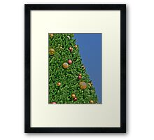 HDR - Christmas Tree and Blue Sky Framed Print