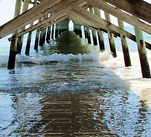 Under The Sunset Beach Pier by Cynthia48